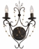 452-EB Crystorama Angelina 2 Light Bronze Sconce