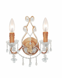 4522-CM-CLEAR Crystorama Paris Market 2 Light Clear Crystal Champagne Sconce