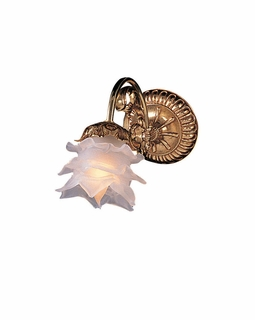 461-OB-L Crystorama Cecile 1 Light Brass Sconce I