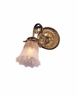 461-OB-T Crystorama Cecile Cast Brass Wall Sconce Accented with Traditional Glass