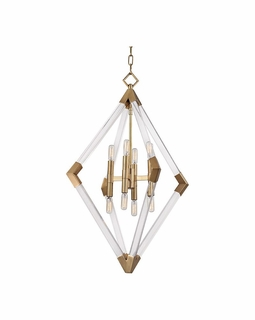 4623 Hudson Valley Lyons (8) Light Pendant in Aged Brass or Polished Nickel
