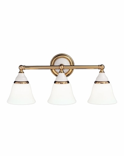 463 Hudson Valley Chic Vintage & Industrial (3) Light Porcelain Bath And Vanity