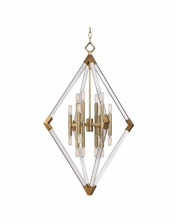 4630 Hudson Valley Lyons (16) Light Pendant in Aged Brass or Polished Nickel