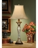 46437 Wildwood Lamps Crystal Candlestick Lamp with Cut Crystal Faux Brass