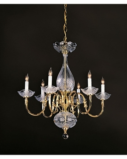 466-PB Crystorama Essex House 6 Light Chandelier