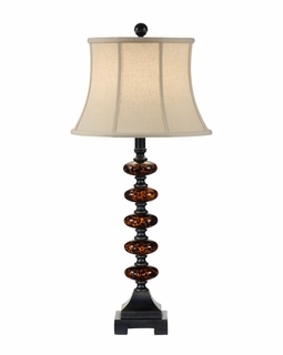 46630 Wildwood Lamps Tortoise Glass Ovals Lamp