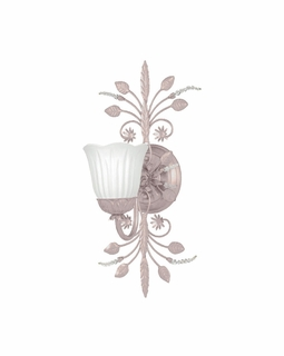 4741-BH Crystorama Primrose 1 Light Blush Sconce