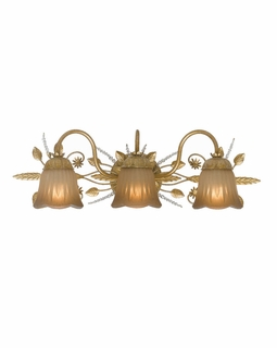 4743-GL Crystorama Primrose 3 Light Swarovski Spectra Crystal Gold Vanity Light