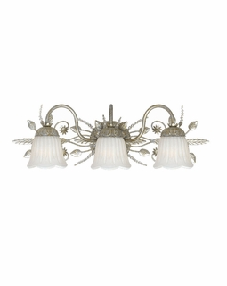 4743-SL Crystorama Primrose 3 Light Swarovski Spectra Crystal Silver Vanity Light