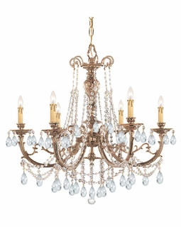 476-OB-CL-SAQ Crystorama Etta 6 Light Clear Swarovski Spectra Crystal Chandelier I