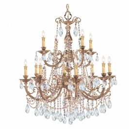 Crystorama Etta 12 Light Clear Swarovski Strass Crystal Chandelier I