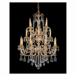 Crystorama Etta 16 Light Clear Hand Cut Crystal Chandelier