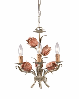 4803-SR Crystorama Southport 3 Light Sage Rose Mini Chandelier