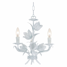 Crystorama Southport 3 Light Wet White Mini Chandelier