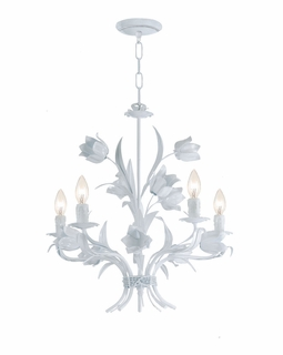 4815-WW Crystorama Southport 5 Light Wet White Chandelier