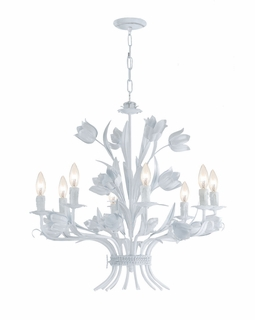 4818-WW Crystorama Southport 8 Light Chandelier II