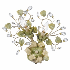 Crystorama Josie 2 Light Champagne Green Tea Sconce