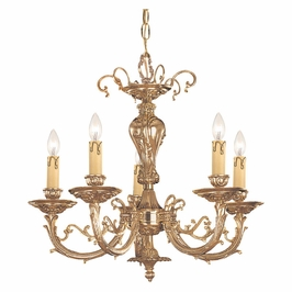 Crystorama Etta 5 Light Olde Brass Mini Chandelier