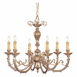 Crystorama Etta 6 Light Olde Brass Chandelier