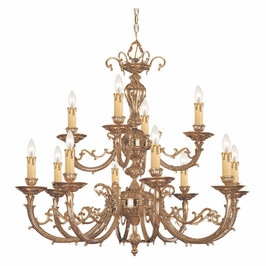 Crystorama Etta 12 Light Olde Brass Chandelier