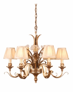 49-06 Corbett Tivoli 6Lt Chandelier with Tivoli Silver Finish