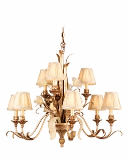 49-09 Corbett Tivoli 9Lt Chandelier with Tivoli Silver Finish