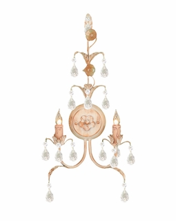 4902-CM Crystorama Athena 2 Light Champagne Sconce