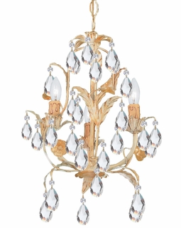 4903-CM Crystorama Athena 3 Light Champagne Mini Chandelier
