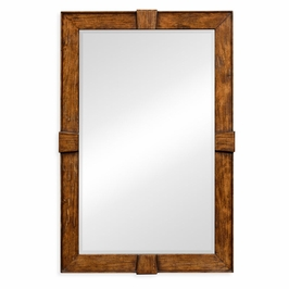 491011-CFW JC Edited Casual Country Walnut Rectangular Mirror