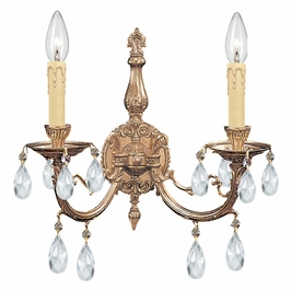 Crystorama Etta 2 Light Crystal Sconce