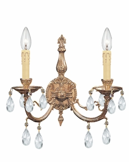 492-OB-CL-S Crystorama Etta 2 Light Spectra Crystal Sconce