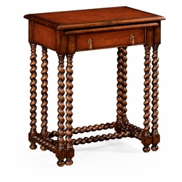 492027-WAL Jonathan Charles Traditional Windsor Collection Pair Of Nesting Walnut Tables