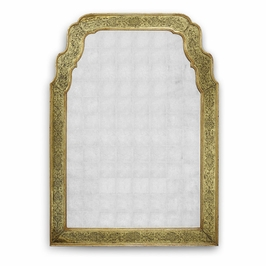 492092-GEG-GES Jonathan Charles Traditional Versailles Collection Gold Eglomise Mirror