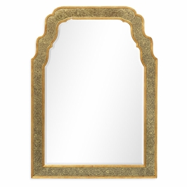 492092-GEG-GPM Jonathan Charles Versailles William & Mary Style Eglomise Framed & Gilded Mirror