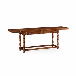 492095-WAL Jonathan Charles Country Farmhouse Large Walnut Hunt Table