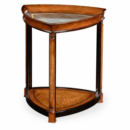 492107-WLL Jonathan Charles Traditional Windsor Collection Walnut & Eglomise Triangular Lamp Table