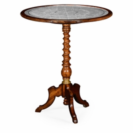 492134-WAL Jonathan Charles Buckingham Aglomise & Walnut Round Wine Table