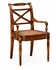 492147-AC-WAL Jonathan Charles Buckingham Regency Cross Frame Back Chair (Arm)