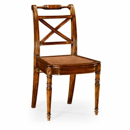 492147-SC-WAL Jonathan Charles Traditional Windsor Collection Regency Cross Frame Back Chair (Side)