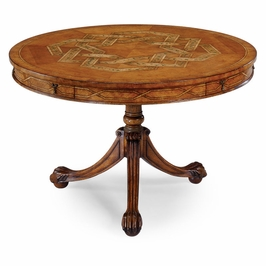 492151-SAL Jonathan Charles Versailles Ball & Claw Centre Table (Satinwood)
