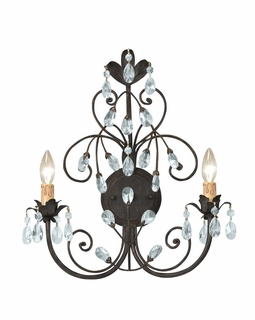 4922-DR Crystorama Victoria 2 Light Rust Sconce