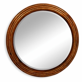 492211-WAL Jonathan Charles Clean & Classic Circular Stepped Surround Mirror (Small Plain Glass)