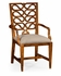 492288-AC-WAL-F001 Jonathan Charles Buckingham Serpentine Open Back Dining Chair (Arm)