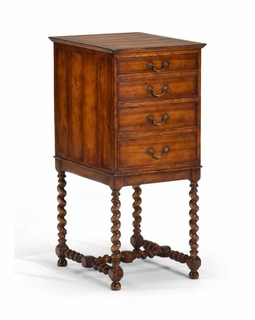 492375 Jonathan Charles Special Order Parquet Chest On Stand (Lined)