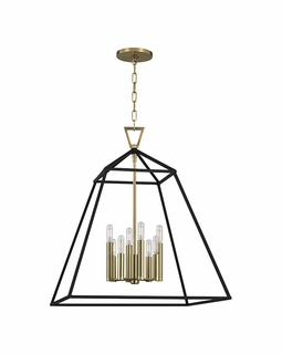 4924 Hudson Valley Bold & Glamorous 8 Light Webster-Pendant Light