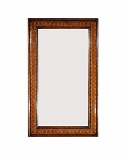 492415-MWC Jonathan Charles Langton Circular Inlay Rectangular Mirror (Plain Glass)