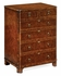 492421-BWM Jonathan Charles Buckingham Bow Front Walnut Chest Of Six Drawers