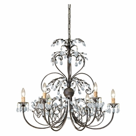 Crystorama Victoria 6 Light Dark Rust Chandelier