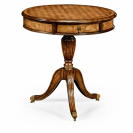 492625 Jonathan Charles Special Order Fish Scale Parquetry Drum Table