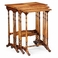 492710-SAM Jonathan Charles Traditional Versailles Collection Satinwood Nest Of Three Tables